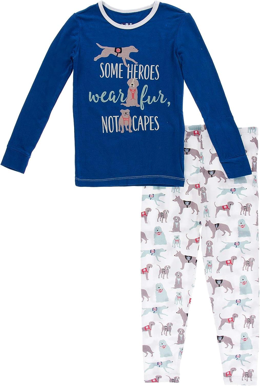 KicKee Pants Long Sleeve Piece Print Pajama Set