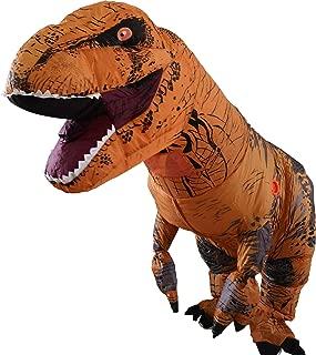A Inflatable Dinosaur T-Rex Costume Party Fancy Dress Cosplay Outfit aufblasbare Dinosaurier Anzüge und Kostüme Festival Party Park für Erwachsene größe (Braun)