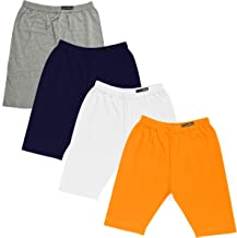 GOODTRY G Girl's Cotton Cycling Shorts Pack of 4 Multi Color