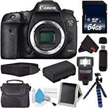 Canon Eos 7D Mark II Digital Camera (International Version) 9128B002 + Memory Card + LP-E6 Replacement Lithium Ion Battery + Deluxe Cleaning Kit + Carrying Case + Microfiber Cloth Bundle