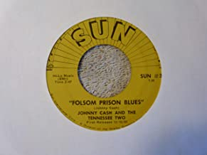 JOHNNY CASH- so doggone lonesome/ folsom prison blues SUN 232 (45 single vinyl record)