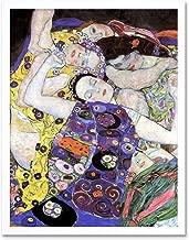Wee Blue Coo Klimt The Maiden 1913 Art Print Framed Wall Decor 9X7 Inch