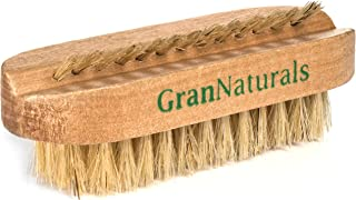Wooden Toe & Finger Nail Brush - Hand & Foot Brush for Cleaning Fingernail and Toenail - 100% Natural Wood and Bristle Nail Scrubber Tool for Men and Women