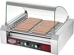 Great Northern Popcorn Commercial Quality 30 Hot Dog 11 Roller Grilling Machine with Cover