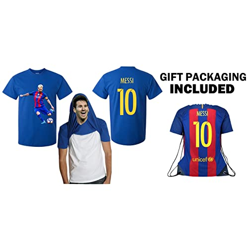 iSport Gifts Barcelona Lionel Messi  10 Jersey Style T-shirt Kids or Men  Soccer 4bf744866
