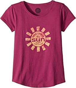Life is Good Kids - Here Comes The Sun Smiling Smooth Tee (Little Kids/Big Kids)