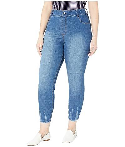 HUE Plus Size Ultra Soft Denim Skimmer Leggings (Medium Wash) Women