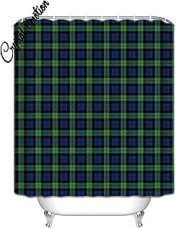 Crystal Emotion Black Watch Tartan Celtic Shower Curtain