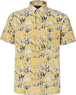 Kam Mens Big Size Pure Cotton Summer Print Shirts