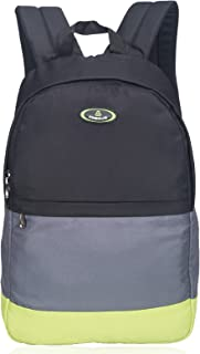 Casual College Bag Daypack - Cosmus Corbin 24 liters Bright Colour Light Weight Trendy Casual Backpack (Black, Grey & Lime)