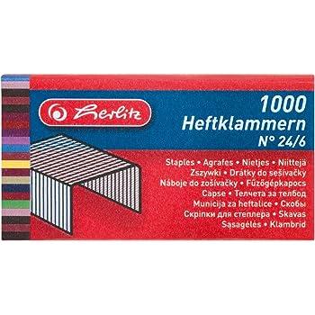 24//6 mm Leitz Heftklammer 1000 Stück verzinkt