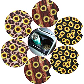 to Protect Your Car and Furniture,Car to Keep Cup Holders Clean 2.56 Inch Leopard Car Coasters for Car Living Room Kitchen Office 4 PCS Neoprene Cup Coaster Car Cup Holder Coaster