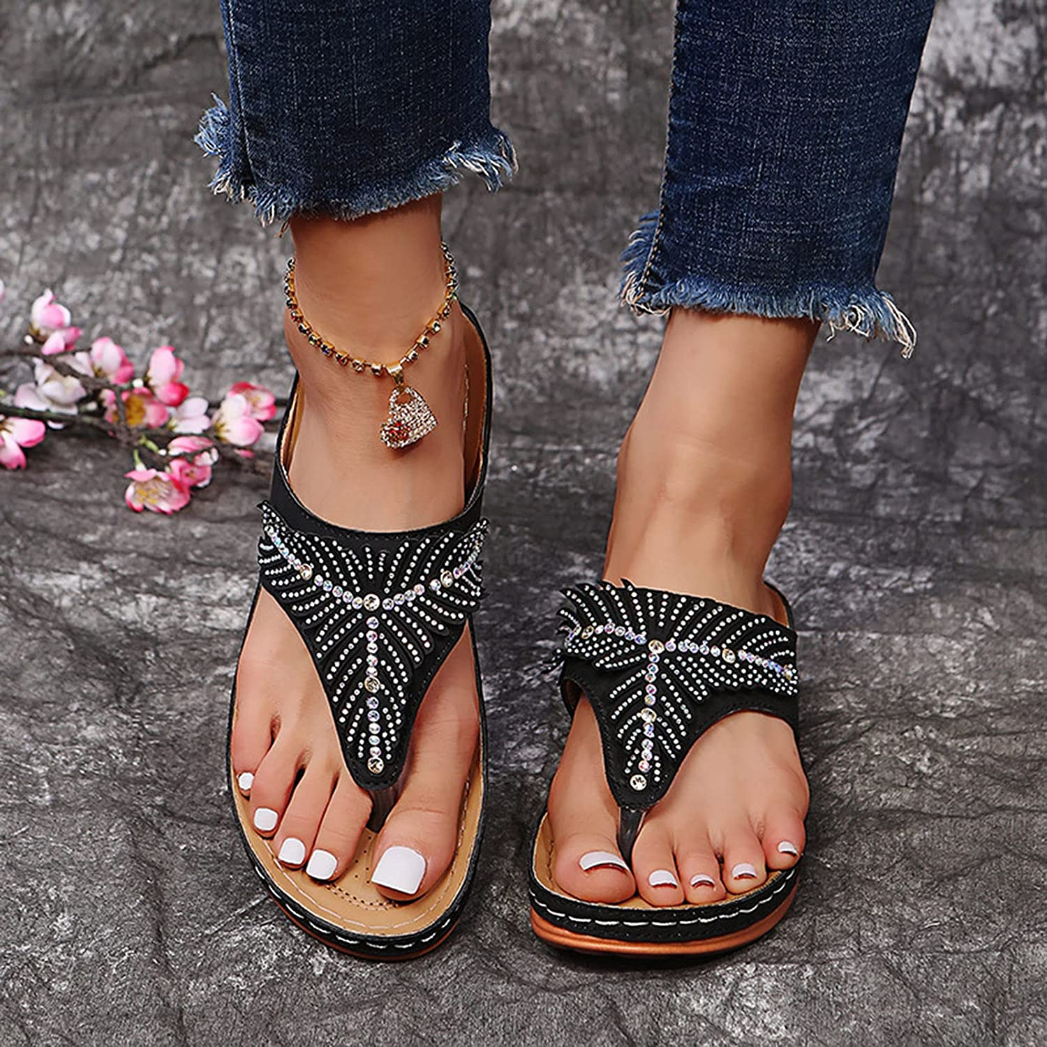 HHZY Mule Our shop most popular Latest item Clogs Shoes for Women Clip Flip To Summer Thongs Flops