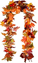 Lvydec 2 Pack Fall Maple Leaf Garland - 6.5ft/Piece Artificial Fall Foliage Garland Thanksgiving Decor for Home Wedding Pa...