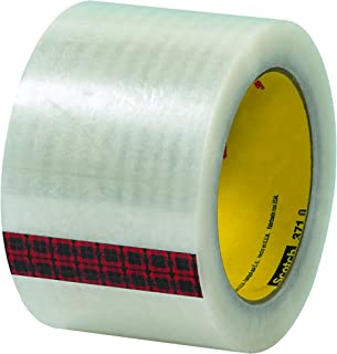 Scotch T905371 Clear #371 Carton Sealing Tape, 3