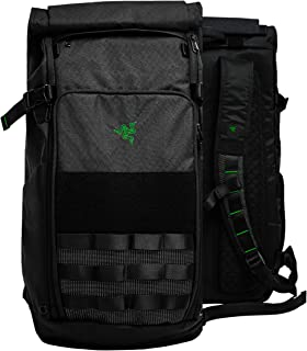 """Razer Tactical v2 17"""" Laptop Backpack: Tear & Water Resistant Exterior - Roll Top for Increased Capacity - Scratch-Proof Interior - Fits 15 inch Laptops – Black"""