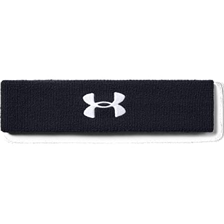 Under Armour UA Performance Headband, Sweat-Wicking Headband, Sweatband Men, Black (Black/White (001)), one size
