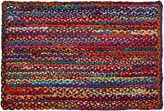 HF by LT Cotton Carnivale Braided Rug, 24 x 36 inches, Multi-Colored