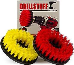 Drill Power Scrubber Alfombra de 2pc friega el cepillo de la tapicería del coche con el Anexo 5 Ronda del taladro de potencia