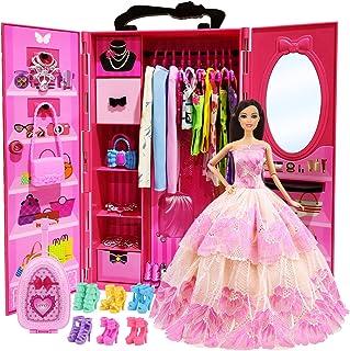 ZITA ELEMENT Lot 101 Items 11.5 Inch Girl Doll Closet...