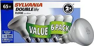 SYLVANIA General Lighting 10264 Incandescnet Light Bulb, BR30 Double Life Life-65W-Reflector Lamp-2850K Incandescent, 65W, Reflector Lamp, 2850K, 6 Pack, 6 Piece