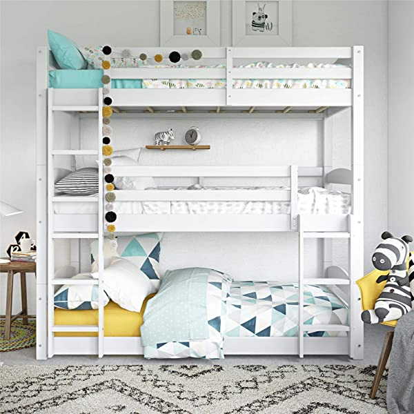 Dorel Living Phoenix Triple Floor Bunk Bed White
