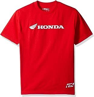 Factory Effex 15-88330 Honda' Horizontal T-Shirt (Red, Medium)