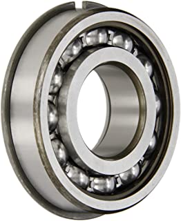 SKF 308 NR Radial Bearing, Single Row, Deep Groove Design, Filling Notch, Maximum Capacity, ABEC 1 Precision, Open, Snap Ring, Normal Clearance, Steel Cage, 40mm Bore, 90mm OD, 23mm Width, 36000lbf Static Load Capacity, 46800lbf Dynamic Load Capacity