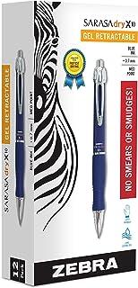 Zebra X10 Retractable Gel Pen, Medium Point, 0.7mm, Blue Barrel, Acid Free Blue Ink, 12 Pack (Packaging may vary)