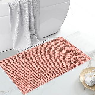 JustLINEN Luxury Chenille Bath Rug, Extra Soft and Absorbent Bathroom Mat Rugs, Machine Washable, Non-Slip Plush Carpet Ru...