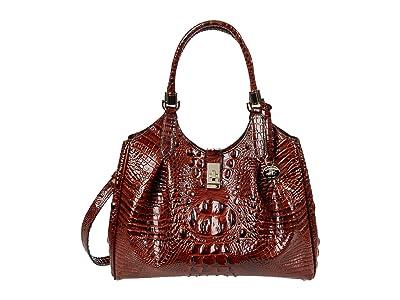 Brahmin Melbourne Celia Satchel (Pecan) Handbags