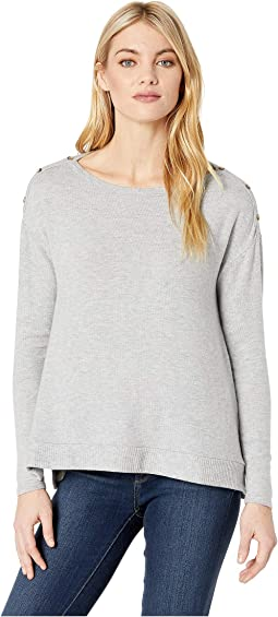 Brushed Sweater Boxy Long Sleeve Top
