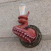 Rahungry Retro Octopus macki ścienne, elektryczne potwory światła z żarówkami wiszące na ścianie, Yard Art Animal Sconce H...