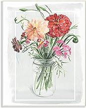 لوحة جدارية فنية جدارية من مجموعة ذا ستوبيل لتزيين المنزل برسمة زهور زينيا البرية في برطمان ماسون بألوان مائية، 25.4 سم × ...