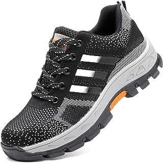 2d98676f98b68 COOU Chaussure de Sécurité s3 Respirant Chaussures de Travail avec Embout  de Protection en Acier Et