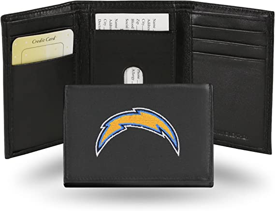 Team Sports America LA Chargers Team Logo Leather Bi-Fold Wallet