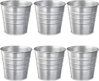 IKEA SOCKER Galvanized Plant Pot, Silver (6, 4.75