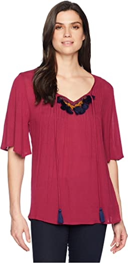 Michalina Blouse with Trim