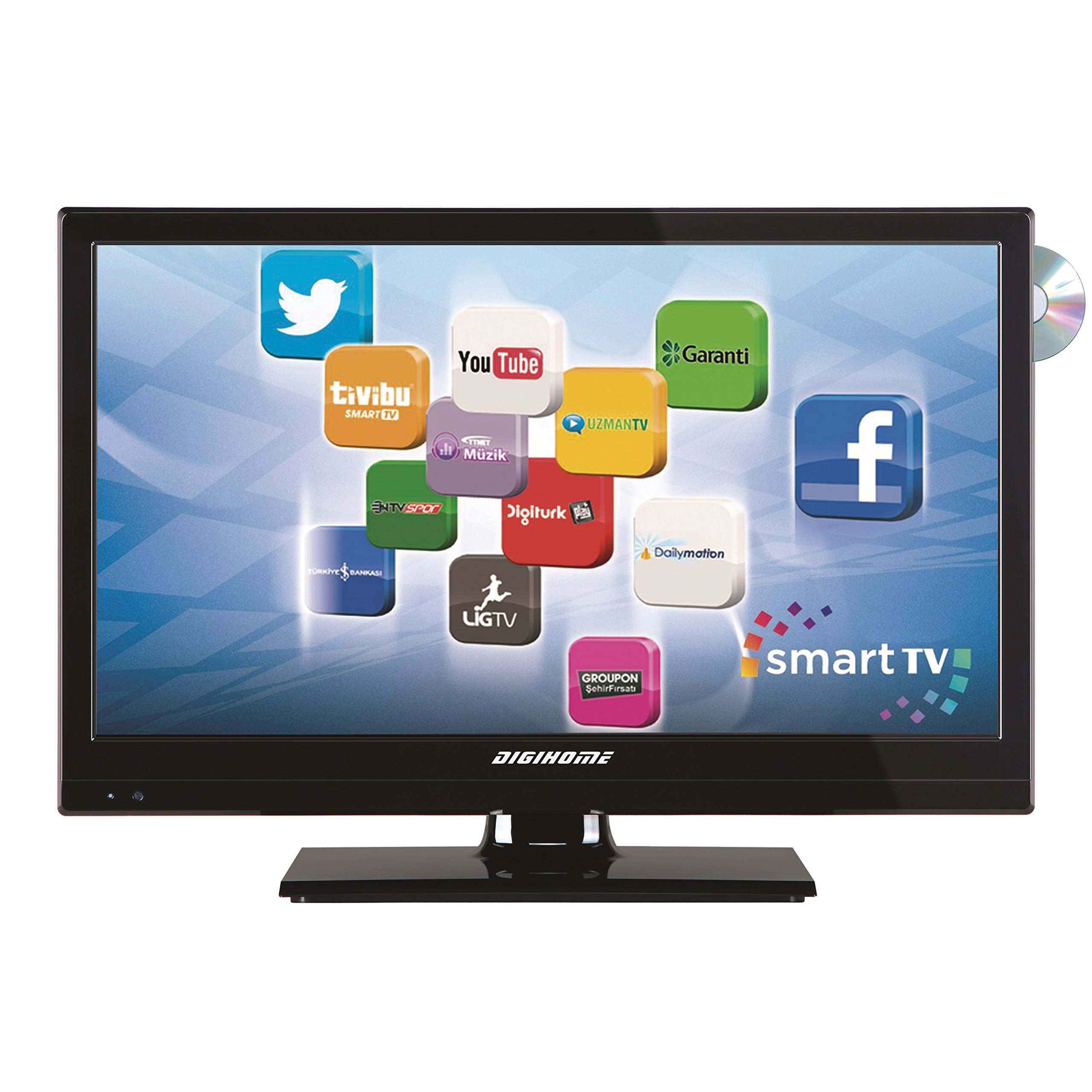 Smart TV Wifi DVB-T2 DVD 19,6