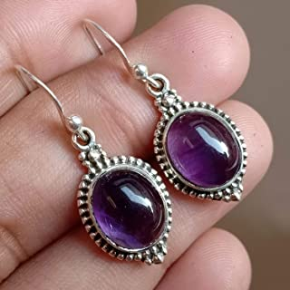 Amethyst Silver Earrings, Birthstone Amethyst Earring, Sterling Silver Earrings, Handmade Earrings, Gemstone Earrings, Valetine Gift