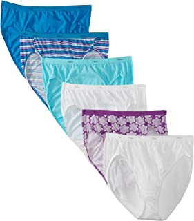 Hanes Women's Cotton Hi Cut Panty Multipack