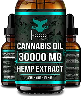 Hemp Oil for Anxiety Relief - 30000 MG - Premium Seed Grade - Natural Hemp Oil for Better Sleep, Mood & Stress - Improve H...