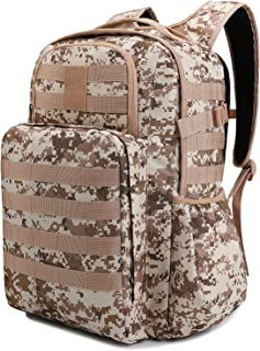 TAIBID Military Tactical Backpack Water Resistant Large Army Assault Pack Molle Bug Out Bag Outdoors Hiking Hunting Backpacks