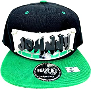 Personalized Custom Snapback Hat Six Panel Flat Bill Snap Back Hat Cap with Laser Cut Graffiti Letters, Custom Made to Order, Comfortable and Unique, Great Gift, an Exclusive Creation Black