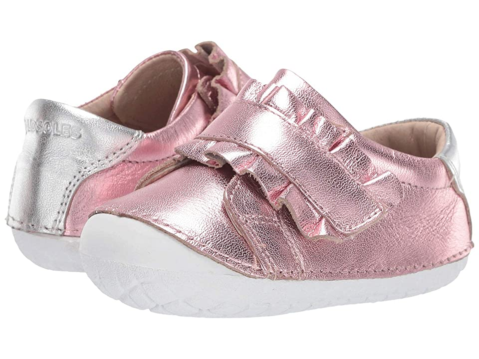 Old Soles Frill Pave (Infant/Toddler) (Pink Frost/Silver) Girl