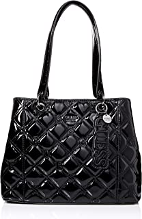 GUESS Kamryn Quilted Patent Shopper