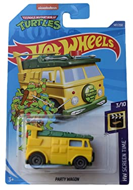 Hot Wheels Screen Time 3/10 Party Wagon 147/250, Yellow/Green