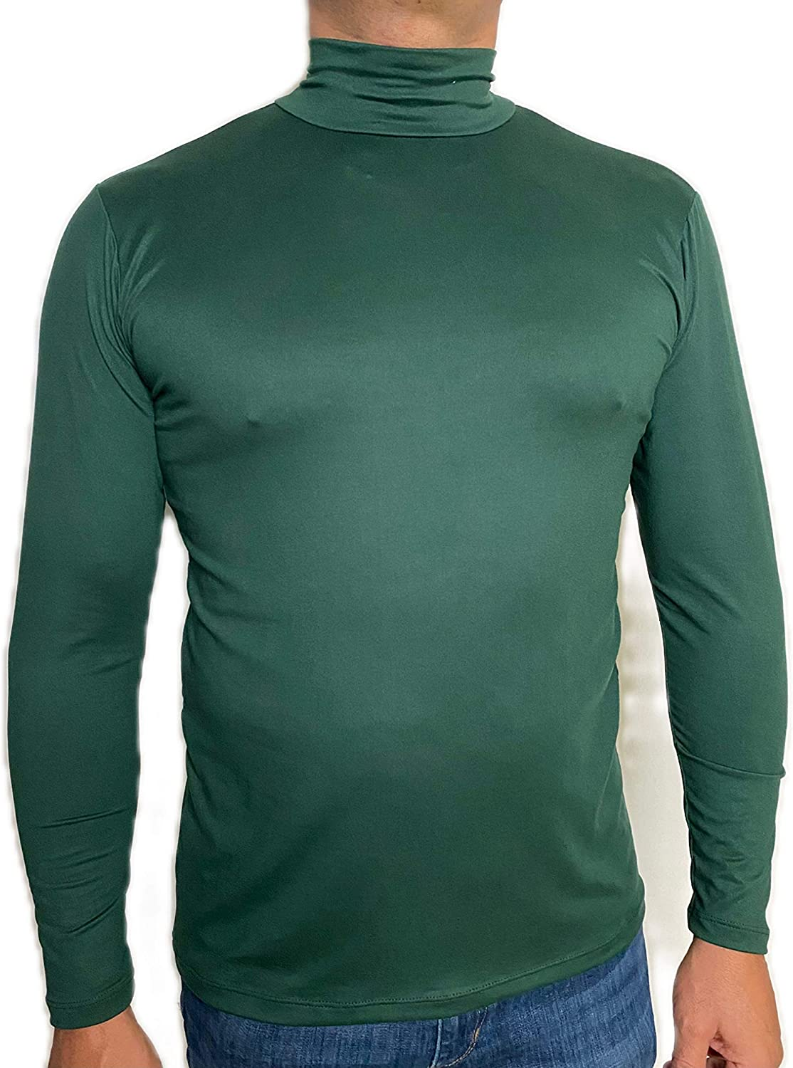 MJoffee, MADE IN USA, Turtleneck Long Sleeve Thermal Sweater, Mock Turtleneck Layer Shirt for Men, in Multiple Colors
