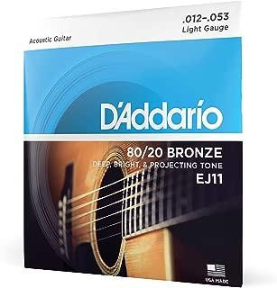 D'Addario EJ11 80/20 Bronze Acoustic Guitar Strings,...