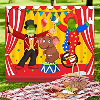 Carnival Circus Party Decoration Carnival Photo Door Banner Backdrop Props, Large Fabric Photo Door Banner for Carnival Circus Party Decor Carnival Game Supplies (Acrobatics)